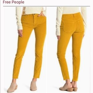 Free People High rise Corduroy Pants 28